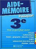 echange, troc Aide-Mémoire Passeport Hachette - Aide-Mémoire Passeport : 3e - 14-15 ans