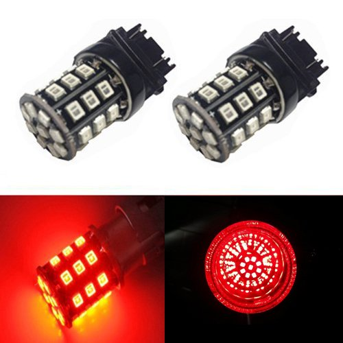 JDM ASTAR AX-2835 Chipsets 3056 3156 3057 3157 LED Bulbs For Brake Light Tail lights Turn Signal, Brilliant Red (Tail Light 1997 Camaro compare prices)