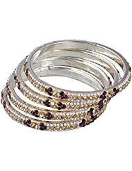 Ridhi Sidhi Collection Golden Brass Alloy Bangle Set For Women [RSC-34-P]