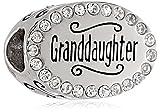 Disney Stainless Steel Granddaughter Crystal Bead Charm