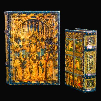 "Large Book Box decorated with ""Charms of the Gothic"" Altar of Veit Stoss or Wit Stwosz in Krakow Poland"