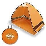[リベルタ]LIBERTA サンシェードテント ワンタッチテント サンシェルター 2~3人用 UV 海水浴 キャンプ アウトドア 収納袋 オレンジ
