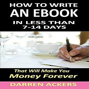 How to Write an E-Book Audiobook