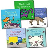 Fiona Watt That's not my.. 5 Toddlers Collection Fiona Watt Books Set (That's not my Truck, That's not my Donkey, That's not my Mermaid, That's not my Kitten, That's not my Dinosaur)