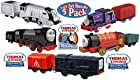 Fisher-Price Thomas & Friends TrackMaster Motorized Engines Victor, Charlie, Hiro, Diesel & Spencer Gift Set Bundle - 5 Pack
