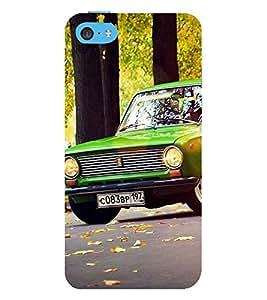 Stylish long Car 3D Hard Polycarbonate Designer Back Case Cover for Apple iPhone 5c