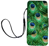 Rikki Knight LLC Rikki Knight Green Peacock Feathers Flip Wallet Case with Magnetic Flap for Apple iPhone 5 & 5s – Carrying Case – white Reviews