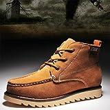 靴 シューズ ブーツ スノーブーツ 裏ボア 床革 厚底 レースアップ ゴム底 紐付き fs311-mx08