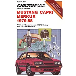 Mustand Capri and Merkur, 1979-88 (Chilton Model Specific Automotive Repair Manuals) Chilton
