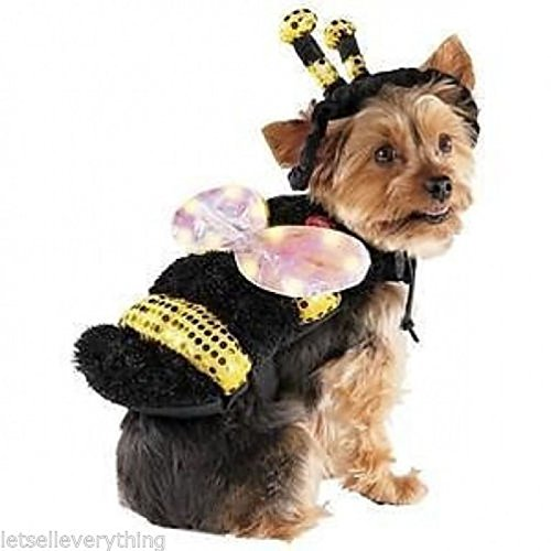 Led Bee With Light Up Wings Pet Costume - Size Xs