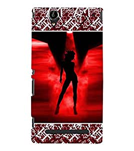 ifasho Designer Phone Back Case Cover Sony Xperia T2 Ultra :: Sony Xperia T2 Ultra Dual SIM D5322 :: Sony Xperia T2 Ultra XM50h ( Beautiful Painting Women Back Pose Look )