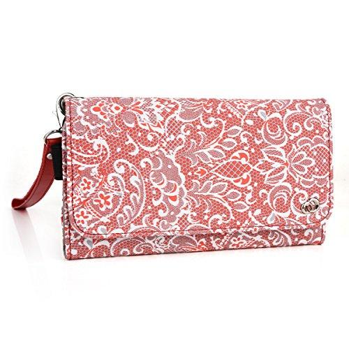 Spice Fire One (Mi-FX-1),Spice Stellar 361 Trendy Multi purpose wallet phone case with i.d holder (Rebel Red)