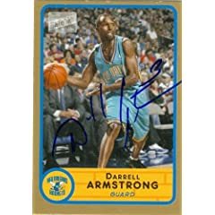 Darrell Armstrong Autographed Hand Signed Basketball Card (New Orleans Hornets) 2003...
