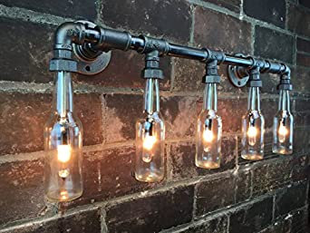 Popular Plumbing Pipe DIY Light Fixture By The Gathered Home