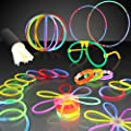 "100 8"" Premium Glow Stick Bracelets Party Pack by FlashingBlinkyLights"