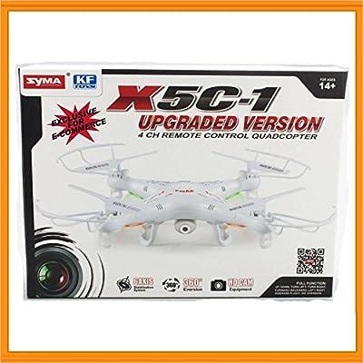 Lentenda Syma X5c-1 2.4ghz 6-axis Gyro Rc Quadcopter Drone UAV RTF UFO with 2mp Hd Camera by Lentenda