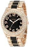 XOXO Womens XO5473 Rose Gold Tone and Black Epoxy Bracelet Watch