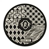 hehe Stainless Geometric Nail Image Stamp Stamping Plates Template (Color : #05)