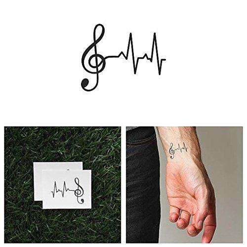 Tattify Tatouages Temporaires Cl_ De Sol - Ligne De Vie (Set de 2)