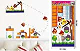 ENFANTS STICKERS MURAUX GRAND DISNEY ANGRY BIRDS AUTOCOLLANTS FILLES CHAMBRE DE MUR CHAMBRE DECOR Décoration Sticker Adhesif Mural Géant Répositionnable...