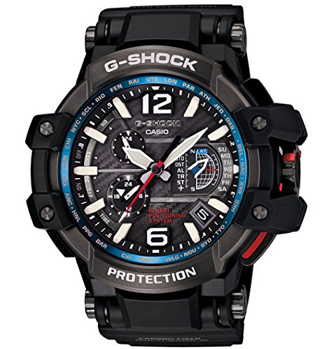 Casio G-Shock Gravity Master Hybrid GPS Black/Blue GPW-1000-1A