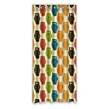 Art Design Night Owls in Colors Custom Window Curtains/Patio Door Curtain/Panels/Treatment, 50 by 108-Inch (One Piece)