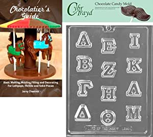 Buy cybrtrayd greek letters alpha thru mu chocolate candy for Greek letters purchase