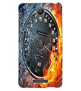 ColourCraft Water and Fire Speed Meter Design Back Case Cover for XIAOMI REDMI NOTE 2 PRIME