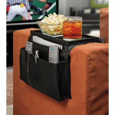 6 Pocket Sofa Couch Arm Rest Organizer with Table-Top, 18x7 inch