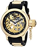 Invicta 17265 Men's Russian Diver Skeleton Gold Tone Dial Steel & Rubber Strap Watch