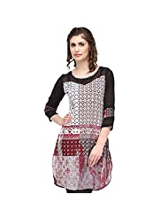 Sia Fashion Black Elegant Embroidered Kurta For Women