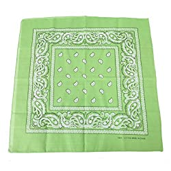 HDE 100% Cotton Double Sided Paisley Bandana Handkerchief Head Wrap