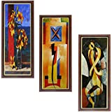 Wens MDF Wall Art (43 Cm X 18 Cm X 1 Cm, Set Of 3, WSPC-32)