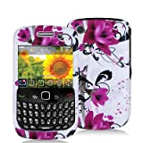 FOR BLACKBERRY CURVE 8520 8530 HARD CASE PINK FLOWERS