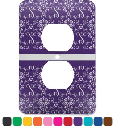 Personalized Initial Damask Electric Outlet Plate front-631999