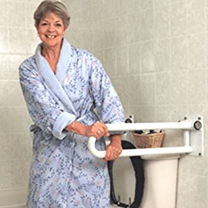 HealthCraft PT Rail for Bathroom Safety - Hinged, Right 32