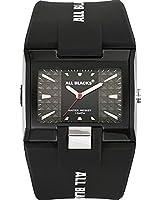 All Blacks - 680083 - Montre Homme - Quartz Analogique - Cadran Noir - Bracelet Plastique Noir