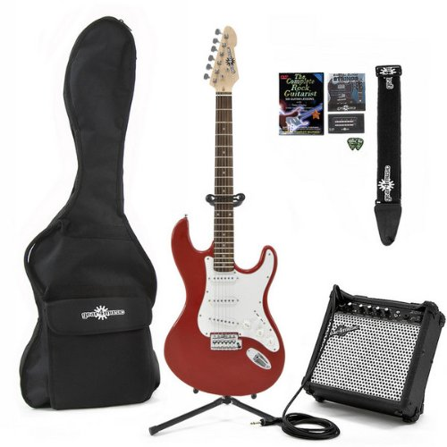 Electric-ST Guitar  &  Complete Pack Red