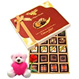 Chocholik Luxury Chocolates - Exotic Truffle Collection With Teddy And Rose