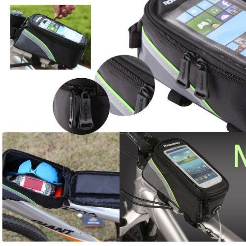 Bolsa frontal para bicicleta transparente para guardar el teléfono