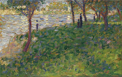 Oil painting 'Georges Seurat Study for 'La Grande Jatte' ' printing on high quality polyster Canvas , 16 x 25 inch / 41 x 64 cm ,the best Gym decoration and Home decoration and Gifts is this Amazing Art Decorative Canvas Prints (Ps3 Controller Skin America compare prices)