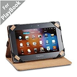 Acase BlackBerry Playbook Genuine Hand Made Leather Jacket/folio Case for Blackberry Playbook 7-Inch Tablet - Wifi 16GB, 32GB, 64GB (Brown)