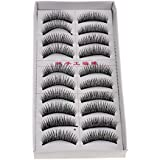 MagiDeal Pair Of 10PCS Thick False Handmade Long Eyelashes Extensions Makeup Cosmetic Tools F-46 6-12MM Multi-Color