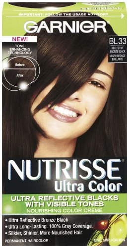Garnier Nutrisse Permanent Haircolor, Bl 33 Reflective Bronze Black