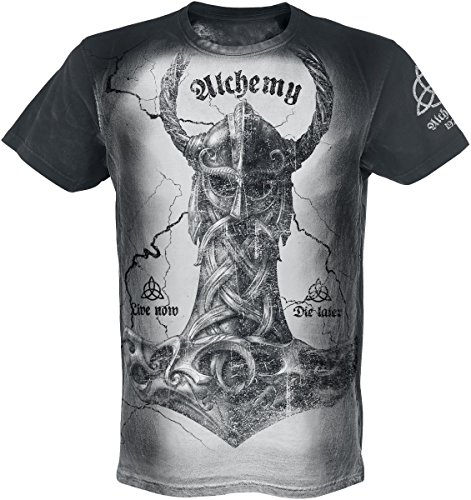 Alchemy England Thors Fury T-Shirt nero/bianco M