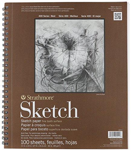 """Strathmore Sketch Pad 11 """"X 14"""" - 60Lb 100 fogli"""