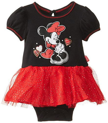 Disney Baby Baby-Girls Newborn Minnie Mouse Dress With Tulle, Black, 6-9 Months front-738582