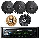 Pioneer DEH-X6900BT Car CD Player Receiver Bluetooth USB AUX Radio - Bundle Combo With 4x Kenwood KFC-1695PS 320W 6.5