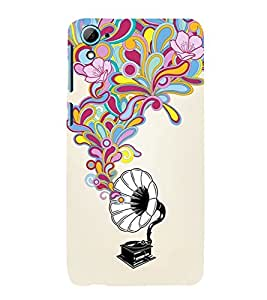 printtech Musical Abstract Back Case Cover for HTC Desire 826 / HTC Desire 826 Dual