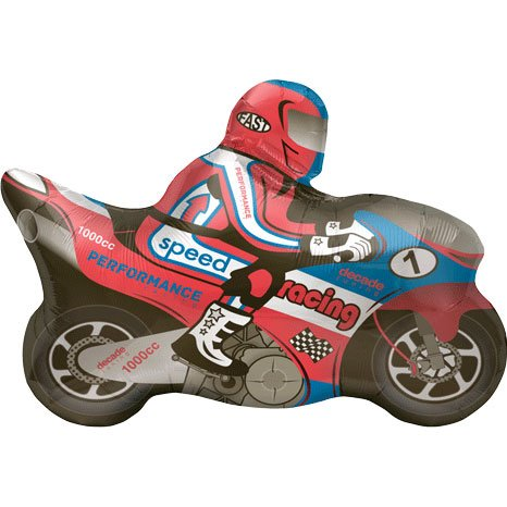 "Speed Racing Motorcycle Racer Shape 32"" Mylar Foil Balloon"